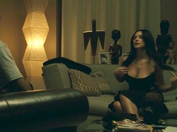 Monica Bellucci showing her cleavage in a sexy black dress: www.daily-celebvideos.com/celebscenes/monica_bellucci/monica...