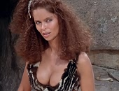 Barbara Bach showing some nice cleavage in Caveman (1981)