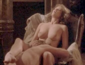 Sylvia Kristel riding a guy & gets her box munched on by a guy