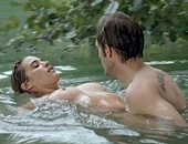 Vahina Giocante naked in the lake & banged from behind