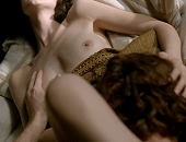 Caitriona Balfe naked in bed receiving oral sex from her man