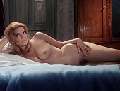 Ellen Burstyn laying fully naked on a bed & pokie nipples in dress