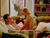 Cameron Diaz naked on top of a guy, letting him play with her boobs