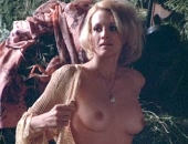 Angie Dickinson standing up completely naked expose tits & bush