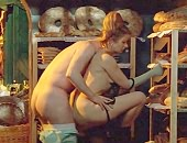 Helen Mirren takes off her jacket and gives a guy a blowjob