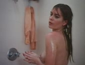 Eileen Davidson doing stretching exercises & naked in the shower
