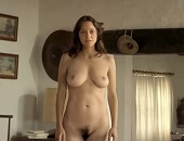 Marion Cotillard drops her robe & goes full frontal
