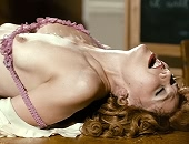 Maggie Gyllenhaal receiving oral & getting banged on a desk