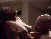 Naturi Naughton shows her boobs while having sex with a guy