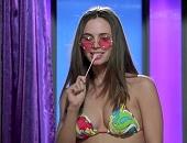 Eliza Dushku shows off her hot body while modeling sexy bikinis