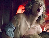 Rosamund Pike exposing her bare ass & riding a guy