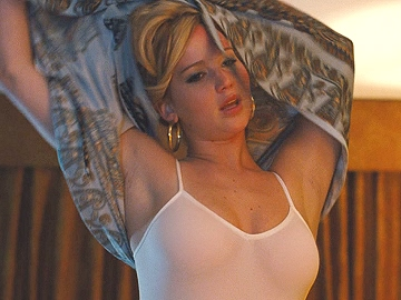 Jennifer Lawrence Showing Cleavage With Hard Pokie Nipples Kissing